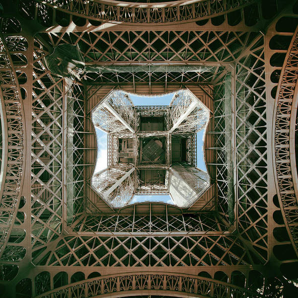 Pasquale Photograph - Upward View Of Eiffel Tower, Paris by Nico De Pasquale Photography