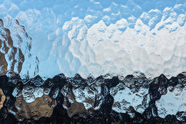 Photograph - Urban Abstracts - Embossed Glass City View by Georgia Mizuleva