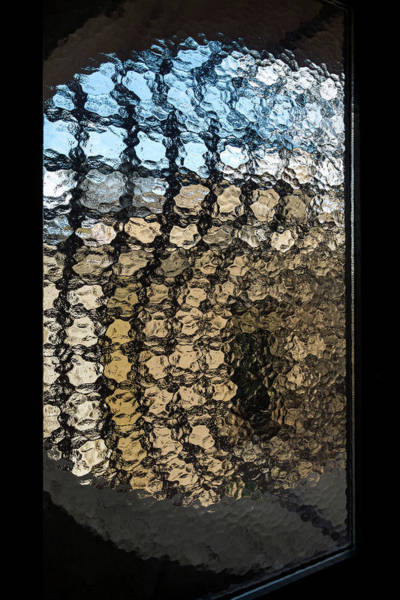 Photograph - Urban Abstracts - Embossed Window City View by Georgia Mizuleva