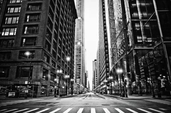 Road Photograph - Urban Chicago City Intersection Of by Nicole Kucera