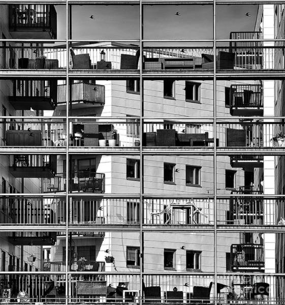 New Age Wall Art - Photograph - Urban City View, Urban Construction by Renata Apanaviciene