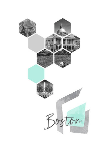 Wall Art - Photograph - Urban Design Boston Cityscapes by Melanie Viola