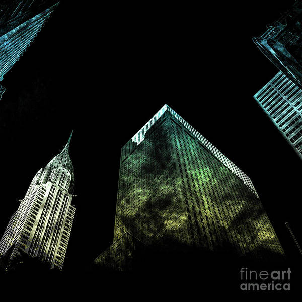 Architectural Digital Art - Urban Grunge Collection Set - 02 by Az Jackson