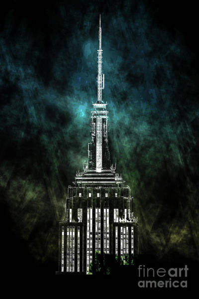 Empire State Building Digital Art - Urban Grunge Collection Set - 10 by Az Jackson