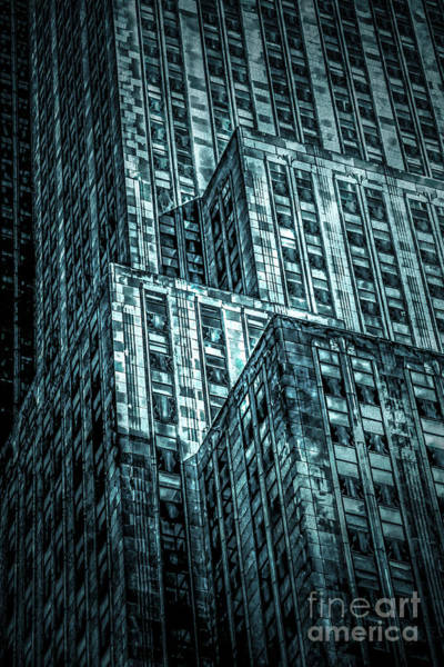 Empire State Building Digital Art - Urban Grunge Collection Set - 11 by Az Jackson
