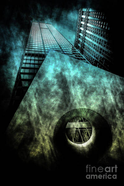 Architectural Digital Art - Urban Grunge Collection Set - 14 by Az Jackson