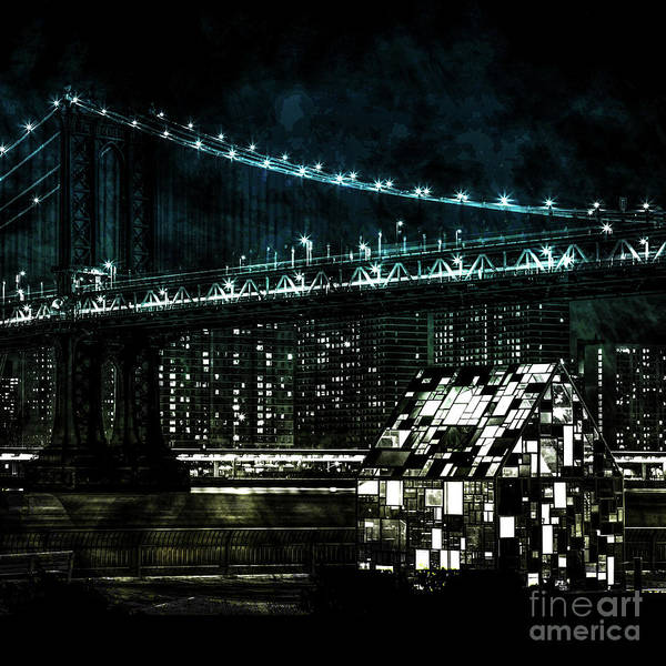 Contemporary Digital Art -  Urban Grunge Collection Set - 15 by Az Jackson