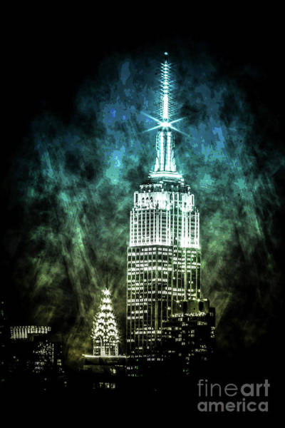 Empire State Building Digital Art -  Urban Grunge Collection Set - 16 by Az Jackson