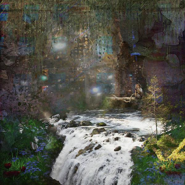 River Scene Mixed Media - Urban Jungle by Marilyn Wilson
