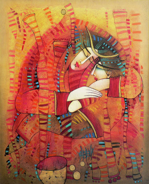 Wall Art - Painting - Urban Madonna by Albena Vatcheva
