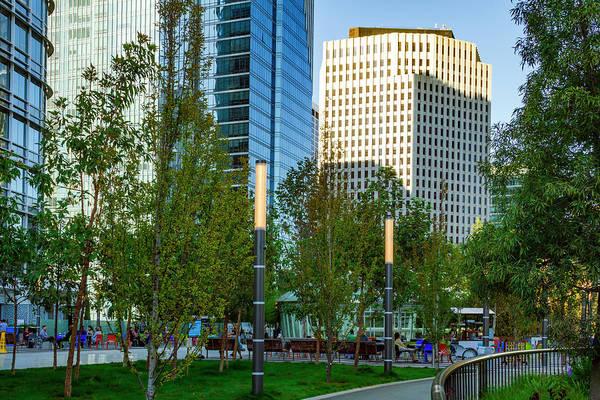 Photograph - Urban Park Scene by Bonnie Follett