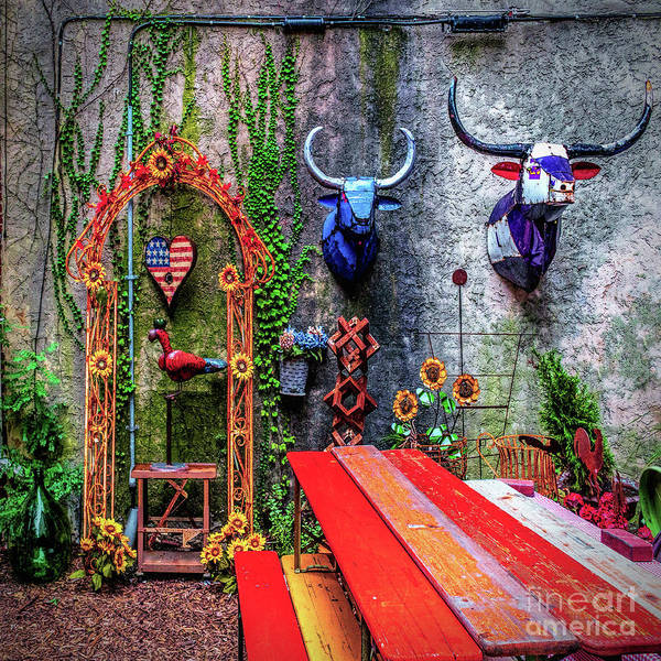 Wall Art - Photograph - Urban Patio Art by Nick Zelinsky