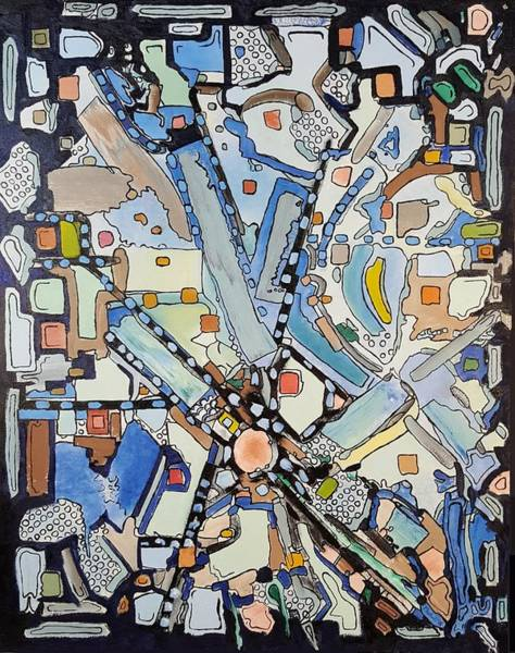 Painting - Urban Planning by Dave Martsolf