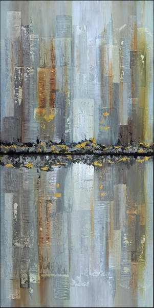 Urban Painting - Urban Reflections Diptych by Shadia Derbyshire