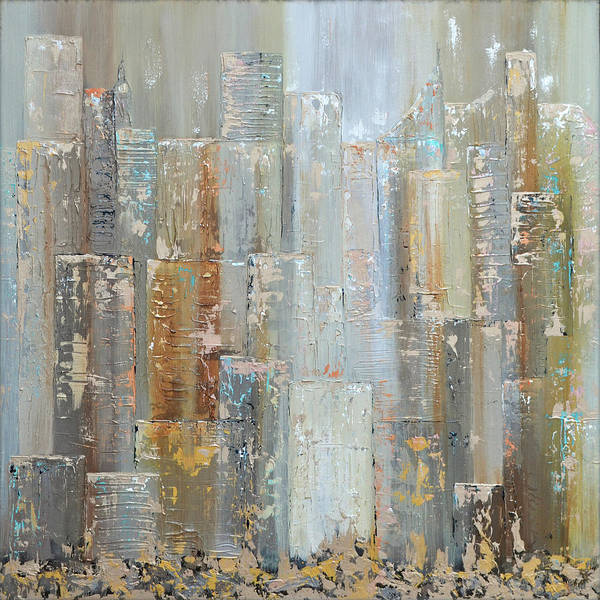 Wall Art - Painting - Urban Reflections I Day Version by Shadia Derbyshire