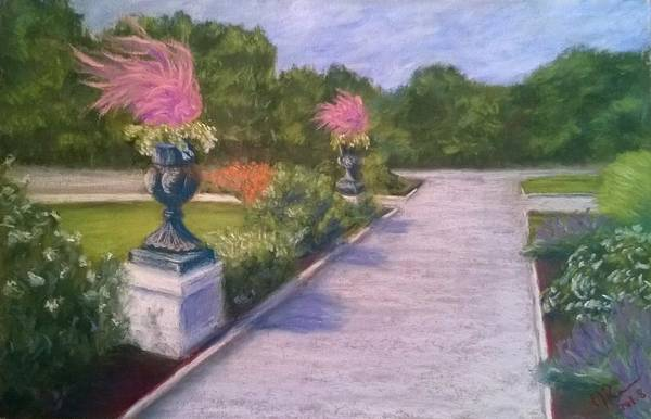 Wall Art - Pastel - Urns At Highland Park Pittsburgh by Joann Renner