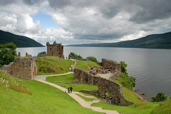 Photograph - Urqhart Castle And Loch Ness by Izzet Keribar