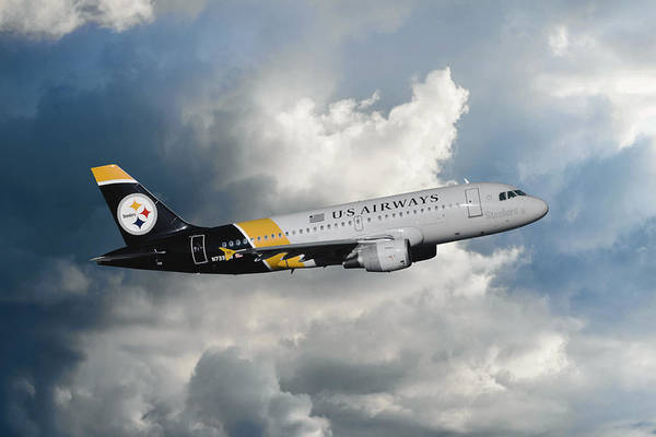 Wall Art - Mixed Media - Us Airways And The Pittsburgh Steelers by Erik Simonsen