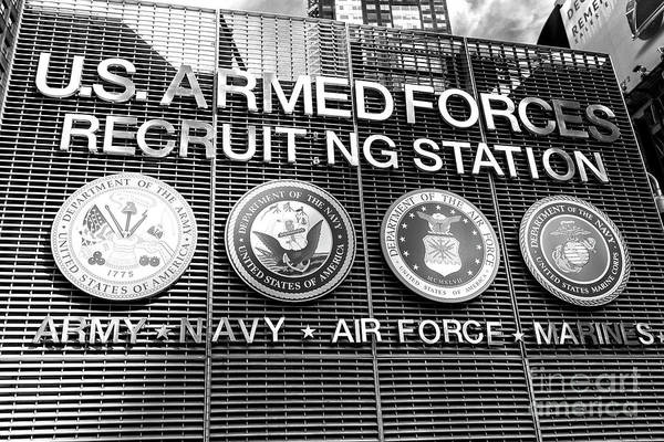 Photograph - Us Armed Forces Recruiting Station Times Square by John Rizzuto
