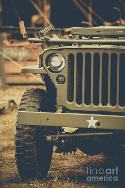 Wall Art - Photograph - Us Army Jeep World War II by Edward Fielding