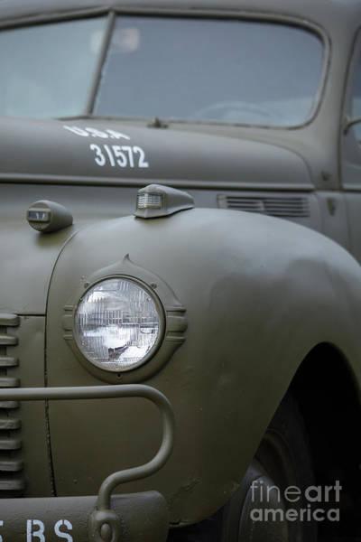 Photograph - Us Army Staff Car World War II by Edward Fielding