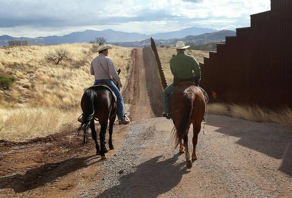 Photograph - U.s. Border Patrol Ranch Liaisons Meet by John Moore