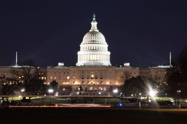 Photograph - Us Capitol At Night by Marvin Bowser