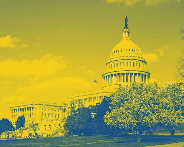 Painting - U.s. Capitol Building, Washington D.c. Original Image From Carol M. Highsmith V2 by Celestial Images