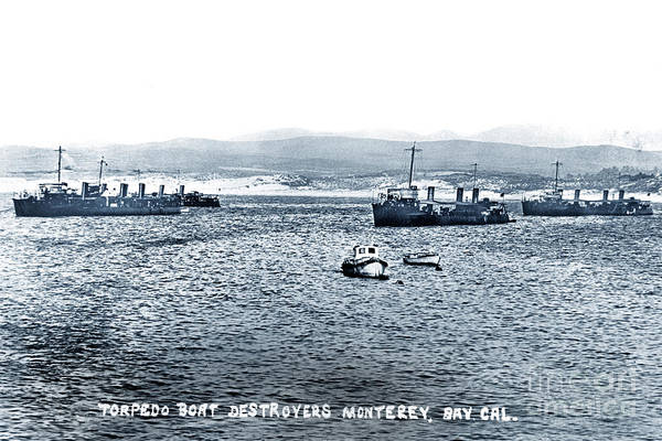 Photograph - U.s. Destroyers Of The First Division, Torpedo Flotilla, Pacific by California Views Archives Mr Pat Hathaway Archives