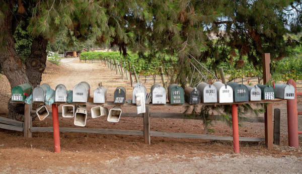 Photograph - Us Mail Boxes by Michael Hope