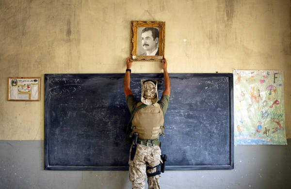 Special Forces Wall Art - Photograph - U.s. Military Searches Al Kut For by Chris Hondros
