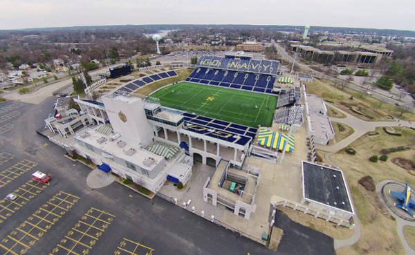 Photograph - U.s. Navy Academy Football Stadium by Mark Duehmig