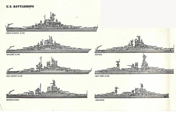Photograph - Us Navy Battleships Of World War II by Steve Estvanik