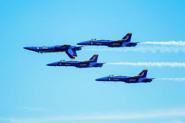 Coordination Wall Art - Photograph - Us Navy Blue Angels Aerial Display Team by Inti St. Clair