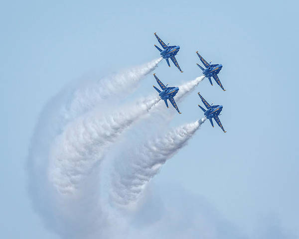 Photograph - Us Navy Blue Angels by Wes and Dotty Weber