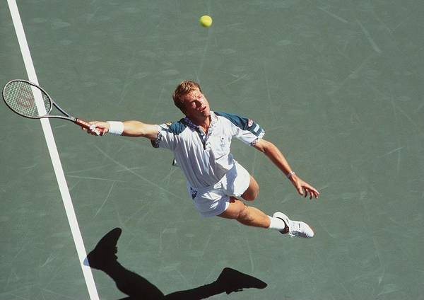 Moldova Wall Art - Photograph - Us Open Edberg by Clive Brunskill