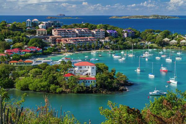 Wall Art - Photograph - Us Virgin Islands, St John Cruz Bay by Walter Bibikow