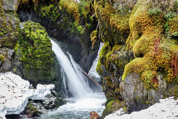Wall Art - Photograph - Usa, Alaska A Portion Of Virgin Falls by Margaret Gaines