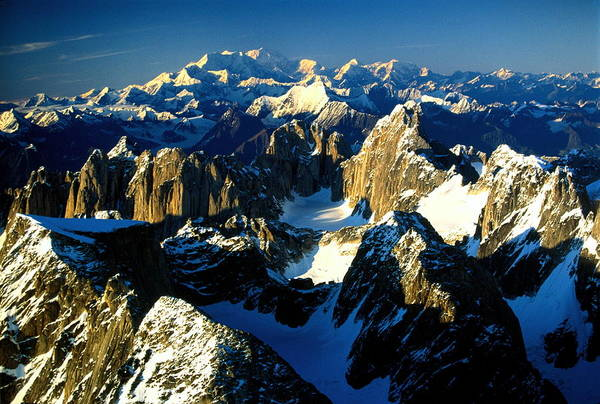 Alaska Photograph - Usa, Alaska, Alaska Range, Cathedral by Art Wolfe