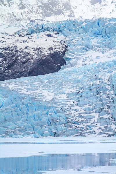 Wall Art - Photograph - Usa, Alaska Mendenhall Glacier Curves by Margaret Gaines