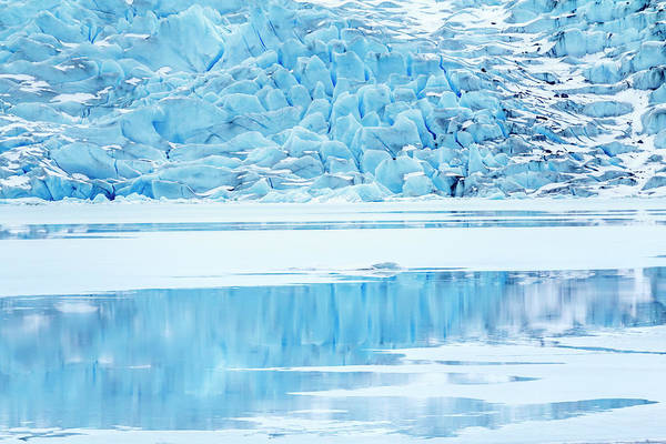 Wall Art - Photograph - Usa, Alaska Mendenhall Glacier Meets by Margaret Gaines