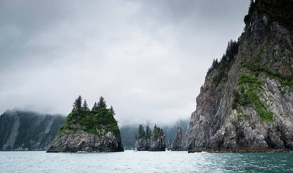 Wall Art - Photograph - Usa, Alaska, Sea, Fog by George Theodore