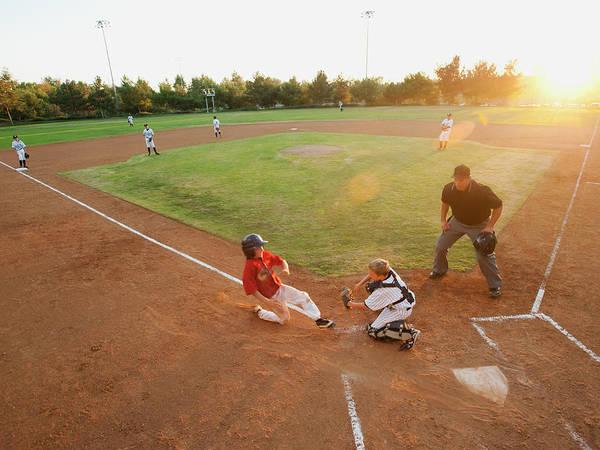 Softball Photograph - Usa, California, Ladera Ranch, Boys by Erik Isakson