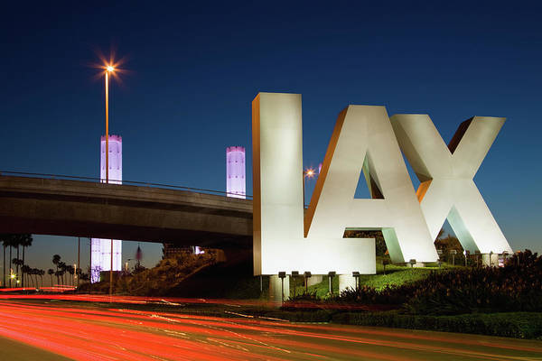 Lax Photograph - Usa, California, Los Angeles, Road To by Siegfried Layda