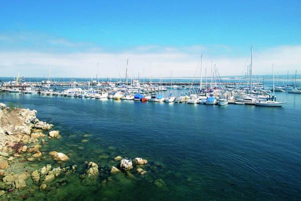 Motorboat Photograph - Usa, California, Monterey, Marina by Medioimages/photodisc