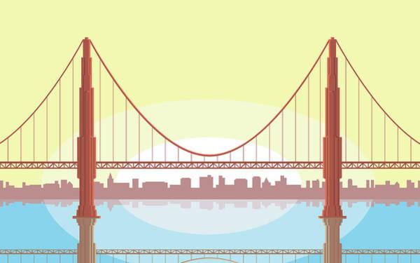 Digital Art - Usa, California, San Francisco, Golden by Greg Paprocki