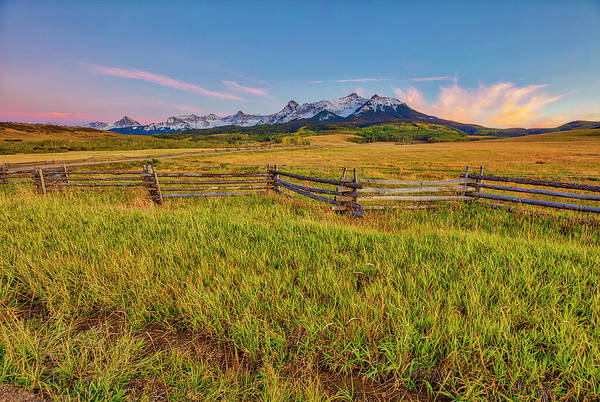 Wall Art - Photograph - Usa, Colorado Meadow And Fence by Jaynes Gallery