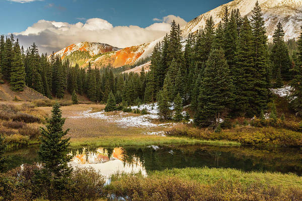 Wall Art - Photograph - Usa, Colorado Red Mountain Reflected by Jaynes Gallery