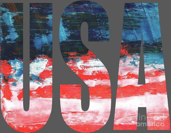 Digital Art - USA by Corinne Carroll