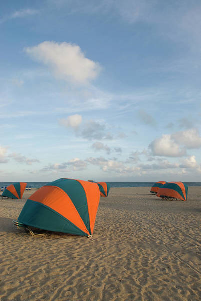 Tent Photograph - Usa, Florida, Fort Lauderdale, Tents On by Fernando Bueno